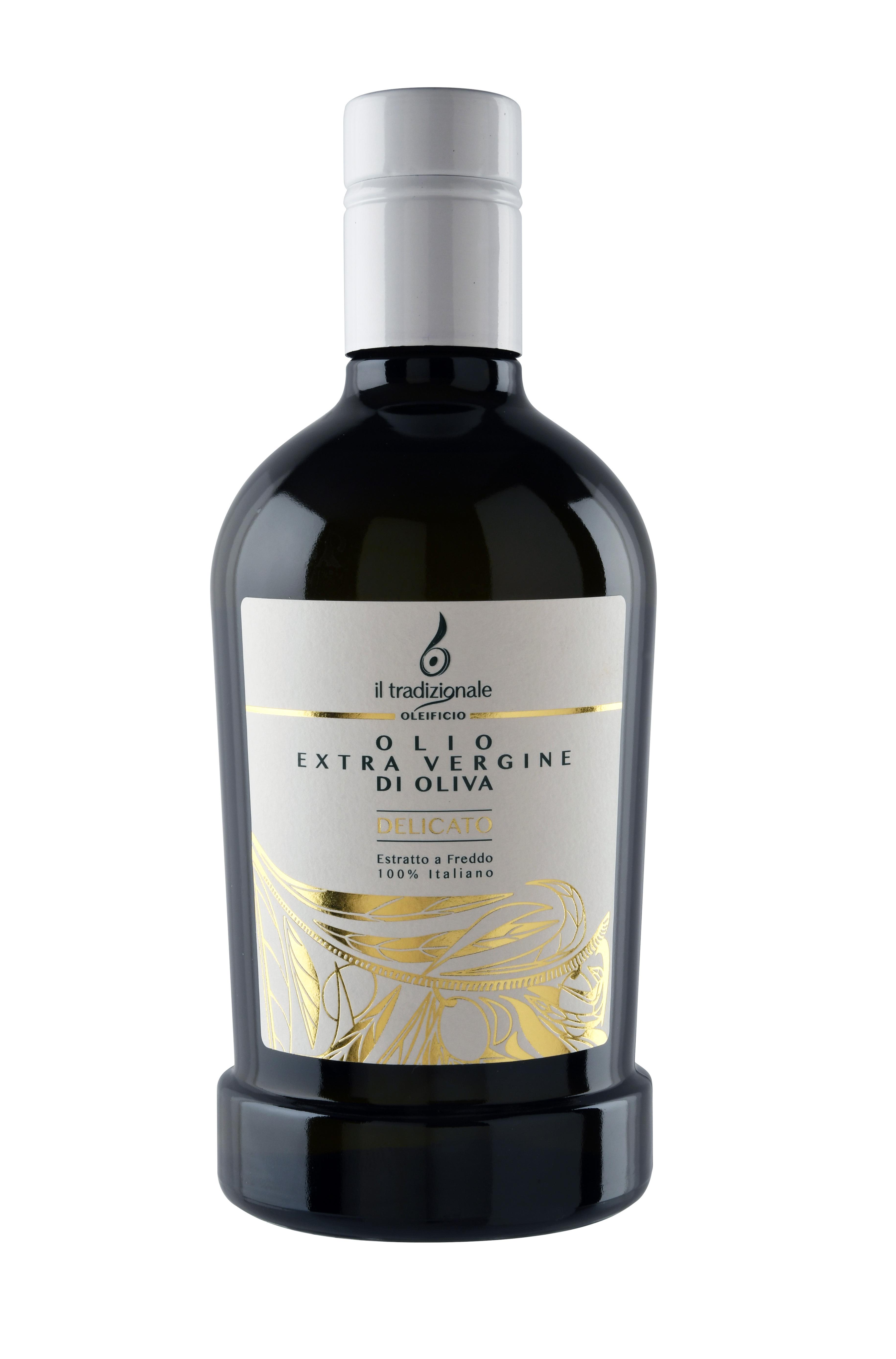 """Olio extra vergine di oliva """"DELICATO"""" - Formato bottiglia da 500 ml. 0005"""