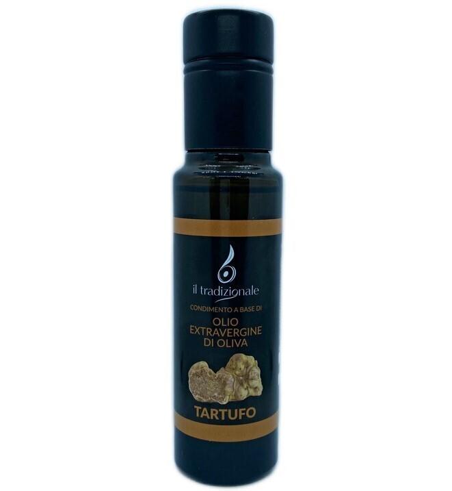 Olio aromatizzato al TARTUFO - Formato bottiglia da 100ml.