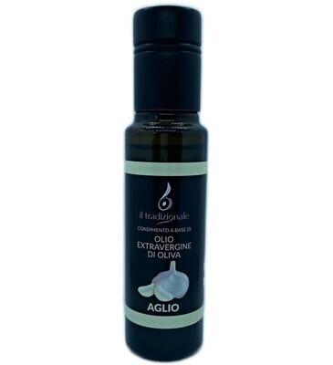 Olio aromatizzato all' AGLIO - Formato bottiglia da 100ml.