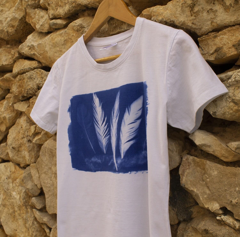 Camiseta - Cianotipo