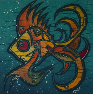 Cuadro en batik - Pequeño