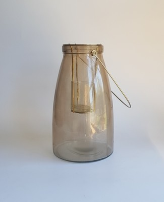 Gold Smoke Tealight Lantern