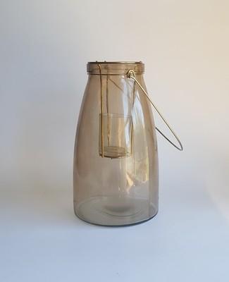 Gold Smoke Tealight Lantern