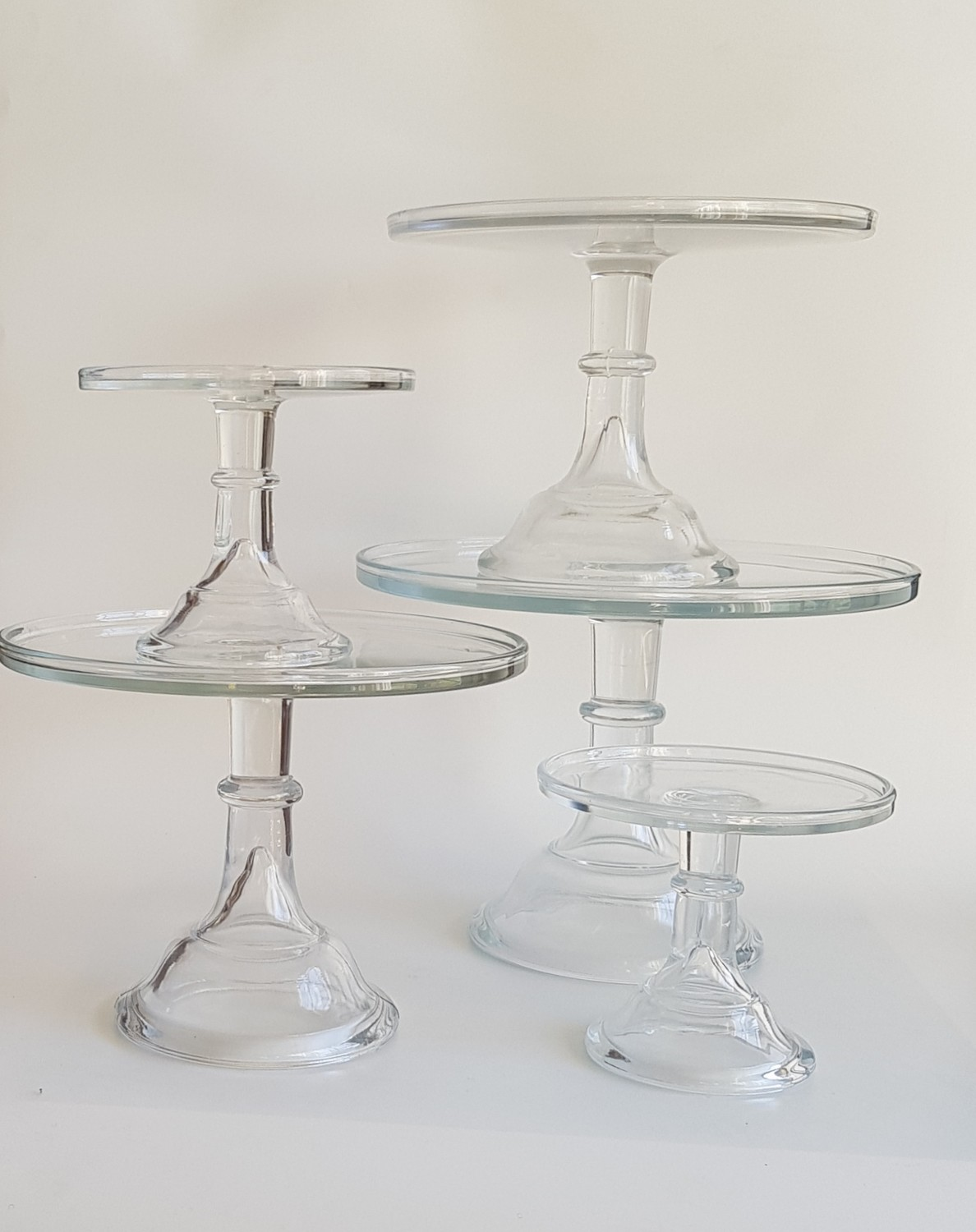 Clear Glass Stands - Various Sizes
