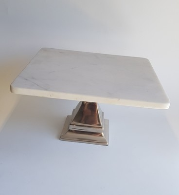 Marble & Silver Stand