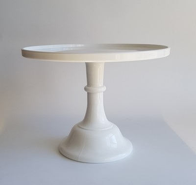 White Glass Stand