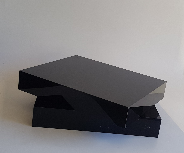Black Rectangle Acrylic Riser