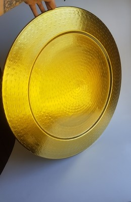 Hammered Gold X-Large Platter
