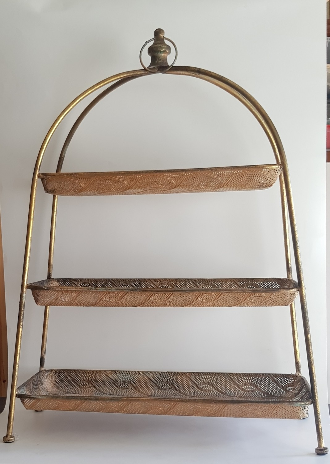 Gold Metal Tiered Stand