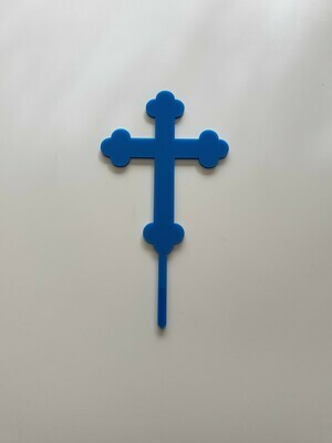 Rounded Cross - Blue