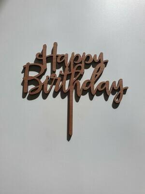 Happy Birthday Script - Dark Timber