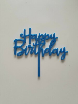 Happy Birthday Script - Dark Blue