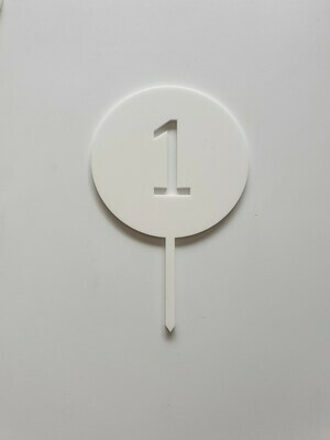 Circle with Number Cut Out White - 1