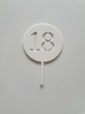 Circle with Number Cut Out White - 18