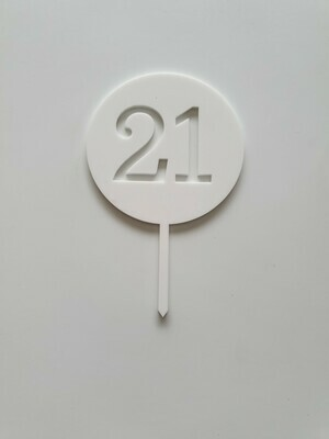 Circle with Number Cut Out White - 21