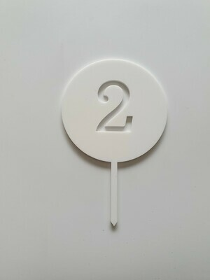Circle with Number Cut Out White - 2