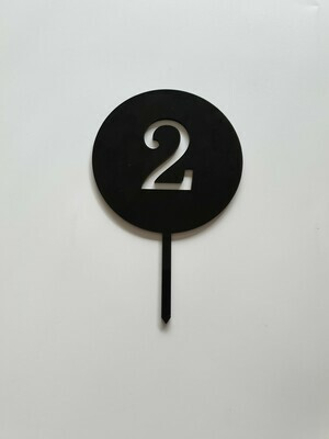 Circle with Number Cut Out Black - 2