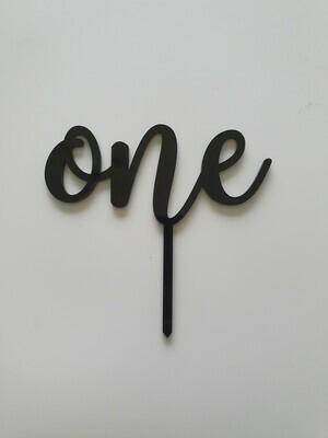 One - Black