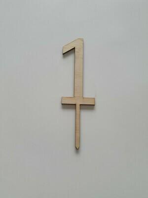 Number 1 - Light Timber