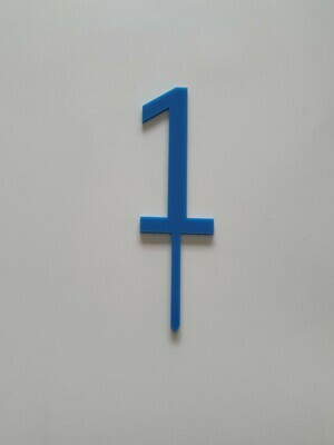 Number 1 - Dark Blue