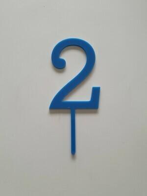 Number 2 - Dark Blue