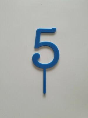Number 5 - Dark Blue