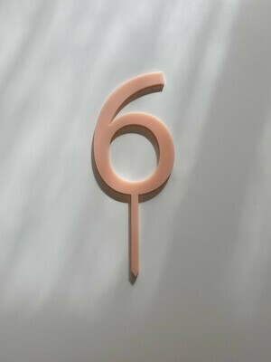Number 6 - Light Pink
