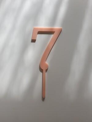 Number 7 - Light Pink