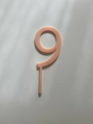 Number 9 - Light Pink