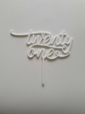 Twenty One - White