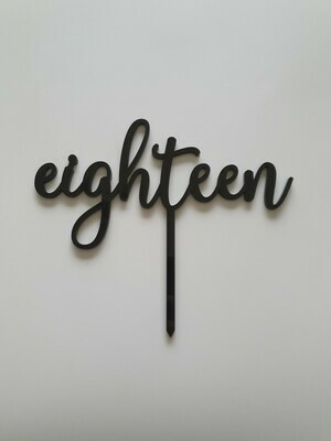 Eighteen - Black