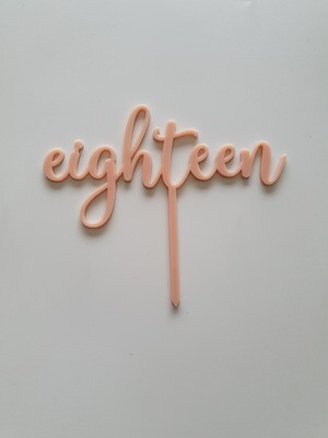 Eighteen- Light Pink