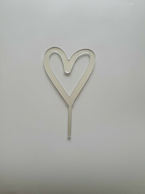 Love Heart - Silver Mirror