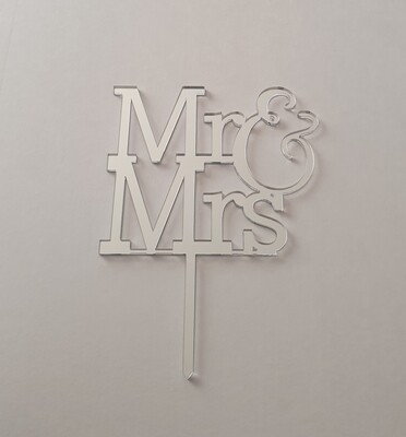 Mr & Mrs - Silver Mirror