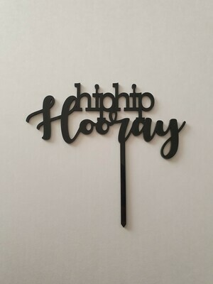 Hip Hip Hooray - Black