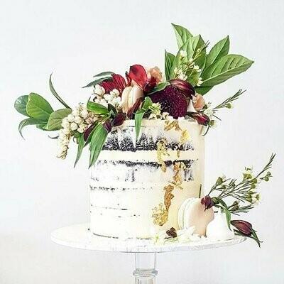 Semi Naked Buttercream Cake + Floraige