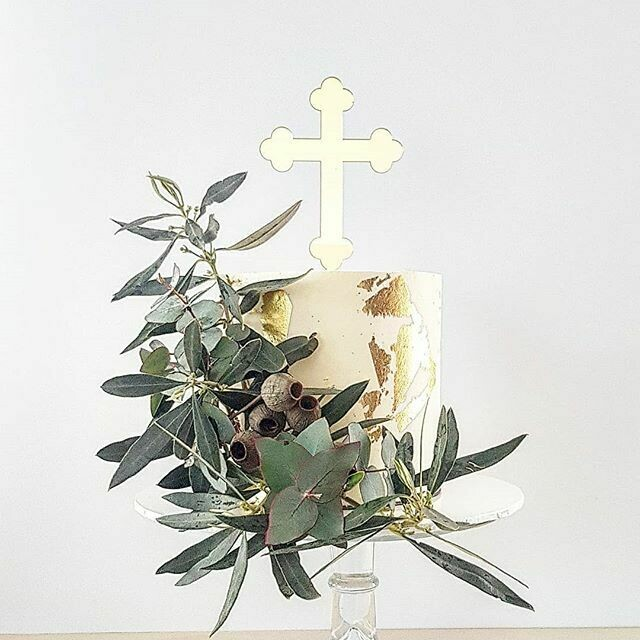 Full Buttercream Cake + Large Mixed Foliage