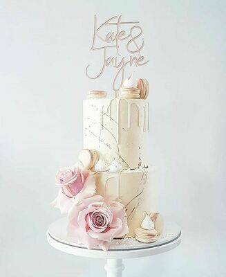 Full Buttercream Cake + Macarons + Roses + Meringues