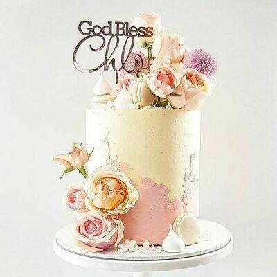 Half Watercolour Buttercream Cake + Mixed Florals