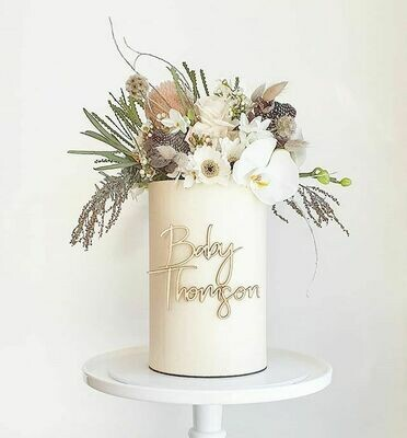 Full Buttercream Cake + Large Top Florals