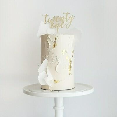 Full Buttercream Cake + Texture