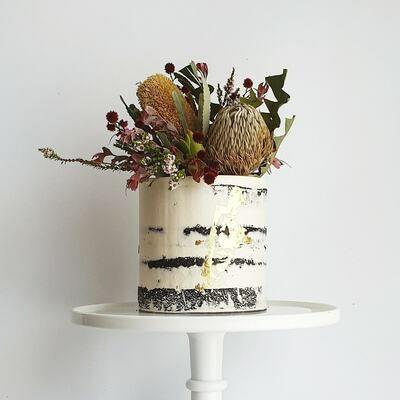 Semi Naked Buttercream Cake + Mixed Natives