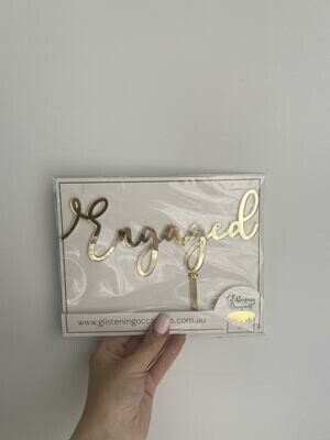 engaged - gold mirror