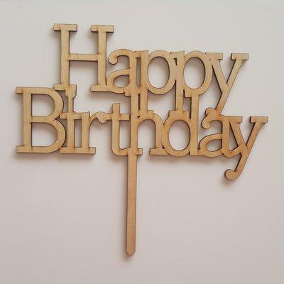 Happy Birthday - Light Timber