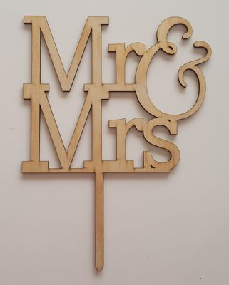 Mr & Mrs - Light Timber