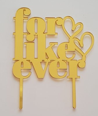 For Like Ever - Gold Mirror