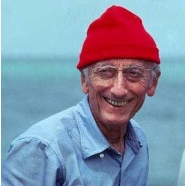 Capt Cousteau Aqau Lung Red Hat (Aqua Lung Logo)