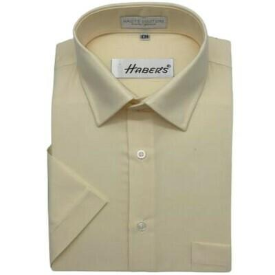 Camisa Haber's Beige Manga Corta