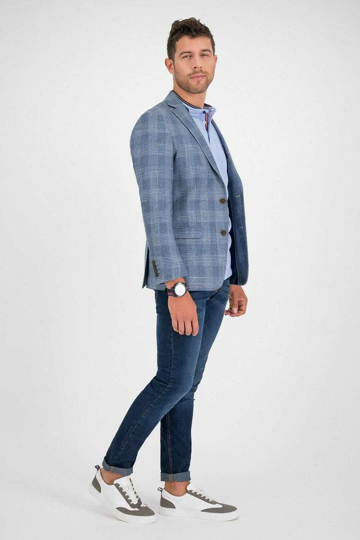 Saco Azul Medio Slim Fit