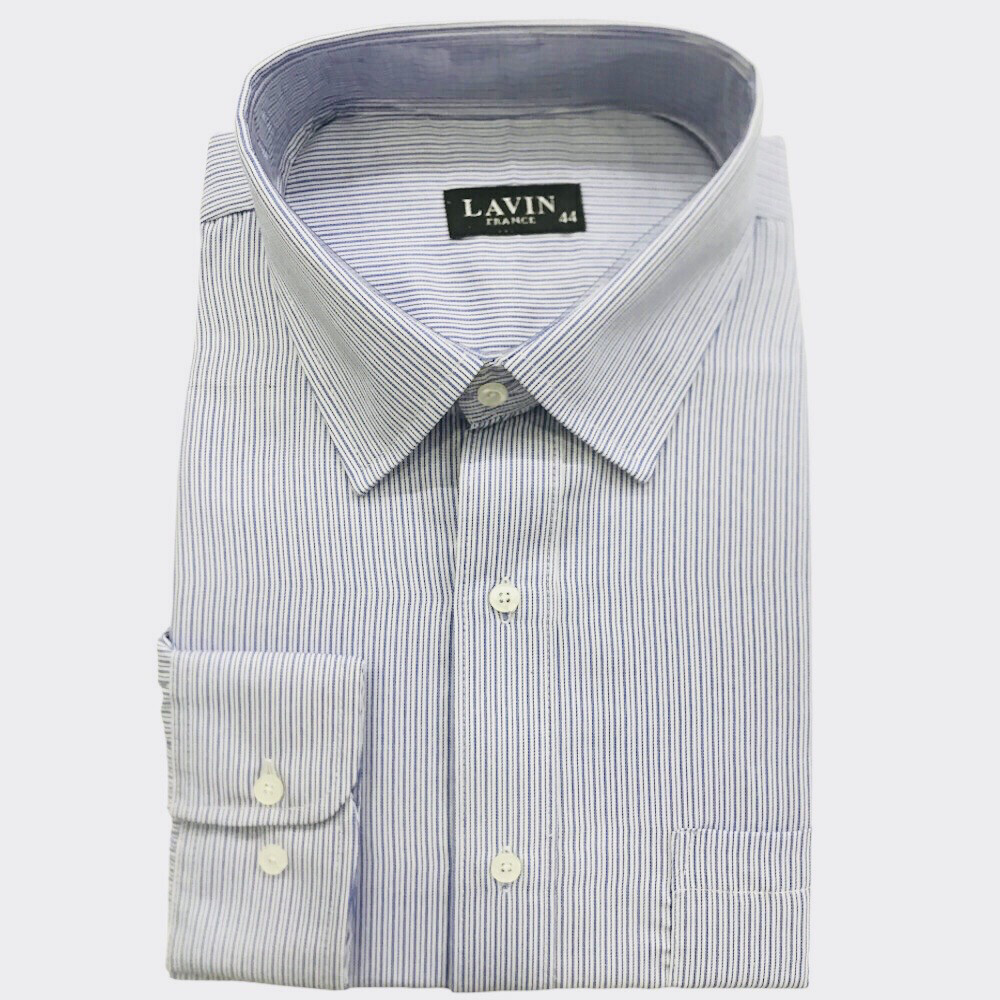 Camisa a Rayas Azul